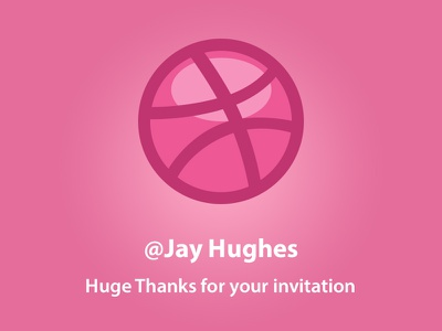 Hello, World! thanks hello welcome invite dribbble glad