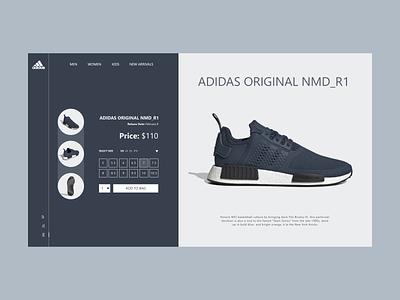 Adidas Sneakers Web shoe online shop online shopping sports design onlineshop shop adidas sneakers sport website design website concept website web design webdesign web uiux uidesign ui