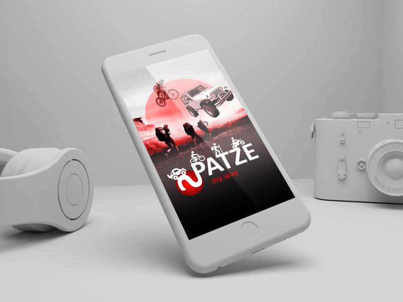 app design-patze logo digitalart art board poster minimal inspire digital visual graphic  design design motor sports motorbike lifestyle phone ux design app design app branding