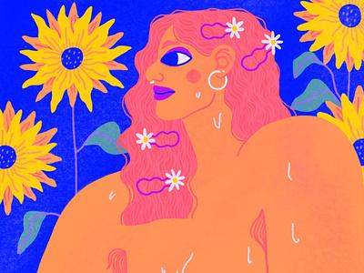 Summer & Lemons background art editorial illustration editorial art character art illustration design