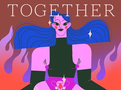 Together We Stand background art fashion art editorial illustration editorial art character art illustration design