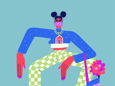 Womanspread character design fashion art editorial illustration editorial art character art illustration design