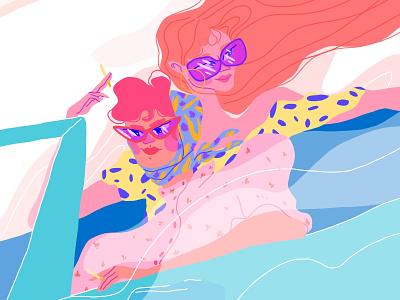 Thelma & Louise fanart fashion art editorial illustration editorial art character art illustration design