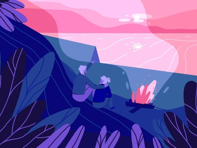 Dreamy Landscape #1 background background art editorial art editorial illustration character art illustration design