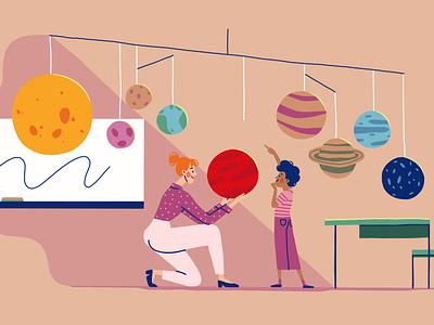 Early Childhood Education animation art animation editorial illustration editorial art character art illustration design