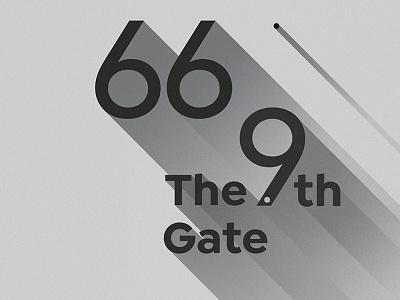 The ninth gate   Movie poster movie vector illustration design