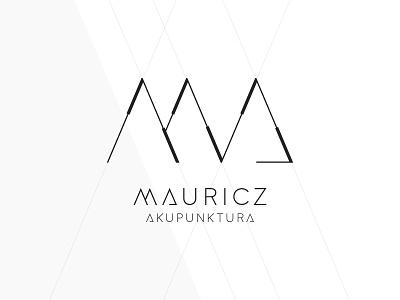 Mauricz Akupunktura logo typography vector branding design