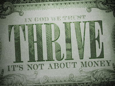 Thrive thrive money church sermon series