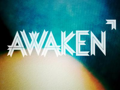 Awaken logo ribbon losttypeco