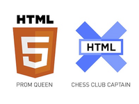HTML5 Prom Queen, XHTML Chess Club Captain