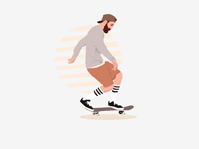 Sk8 illustration art self comissioned illustrator skateboard skater digitalart vector illustration