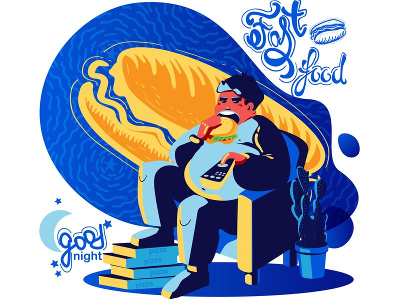 3 Fast Food Good Night 01 design typography icon logo illustration