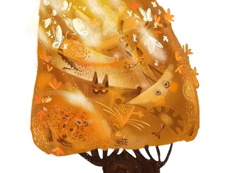 Illustration for children's poem illustrationcharacterforestmagic