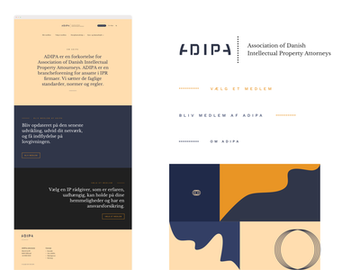 ADIPA web design vector icon typography branding website web ux illustration design