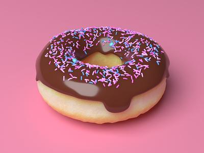 🍩 3d art 3d modeling 3d doughnuts doughnut sprinkles pink donut blender 3dillustration