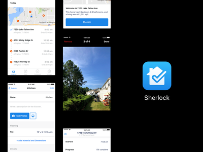 Sherlock app icon service design app design ui opendoor
