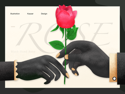Black Hand Rose