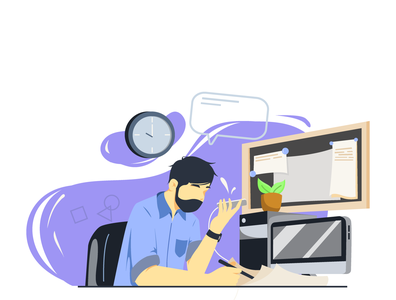 Busy and Work minimal work work in progress busy bussines flat vector design illustration