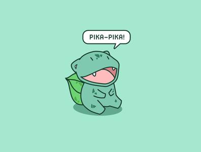 Bulbasaur cute bulbasaur nintendo pokemon illustration