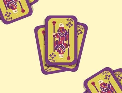 King of Card minimal card card design vector iconic flat flat design flat design illustration