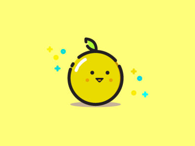 Orange or Lemon lemon orange minimal iconic flat flat design flat design illustration