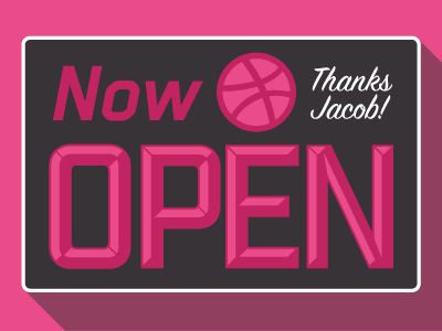 Open for Dribble Business pink signage sign dribble debut open
