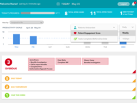 Nurse-to-Patient User Portal Redesign - Home screen