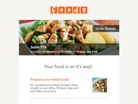 Fooda Email Receipt