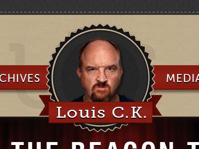 Louis C.K. louis ck louis c.k. header ribbon