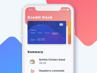 Daily UI  #002  -- Credit Card Checkout credit card food store payment dailyui