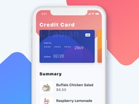 Daily UI  #002  -- Credit Card Checkout