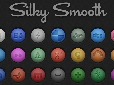 45 Free Social Icons PSD free psd social icons smooth silky