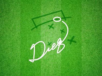 Ad10s Diego! diego armando maradona typography draw logo art gański tribute