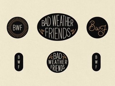 Sticker Designs for Bad Weather Friends