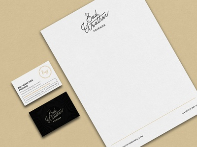 Letterhead & Business Cards - BWF