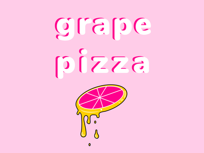 Grape pizza