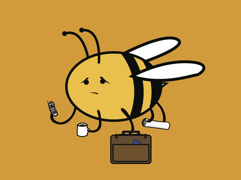 Busy Bee pun idiom animal illustration bee animal design illustration
