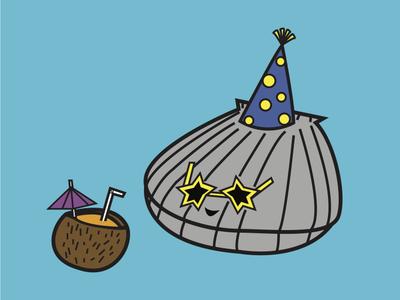 Happy As A Clam illustrator art illustrator vector happy as a clam clam pun animal illustration illustration animalols idiom animal
