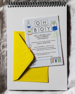 Chemistry Baby Shower Invite