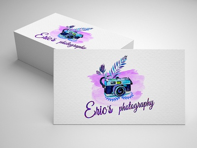Watercolor Photography Logo