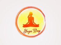 Watercolor design of yoga day