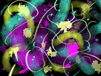 Abstract 5 psychedelic dynamic colorful artwork icon elements retro design illustration abstract