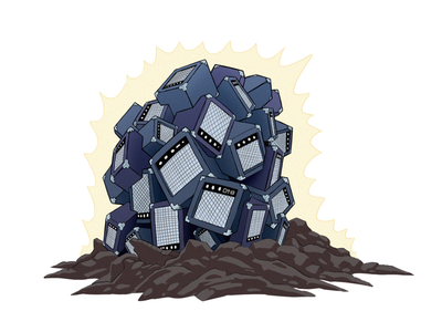 Pile of Amps cubes 3d rocks magic design art colorful drawing music amps artwork spot illustration icon illustration