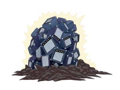 Pile of Amps cubes 3d rocks magic design art colorful drawing music amps artwork spot illustration icon illustration