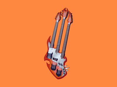 Guitar music graphic design design prop colorful rock n roll artwork icon illustration guitar