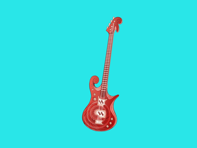 Shell Guitar? character design icon design prop game art animation cartoon music guitar artwork illustraion iconography icon