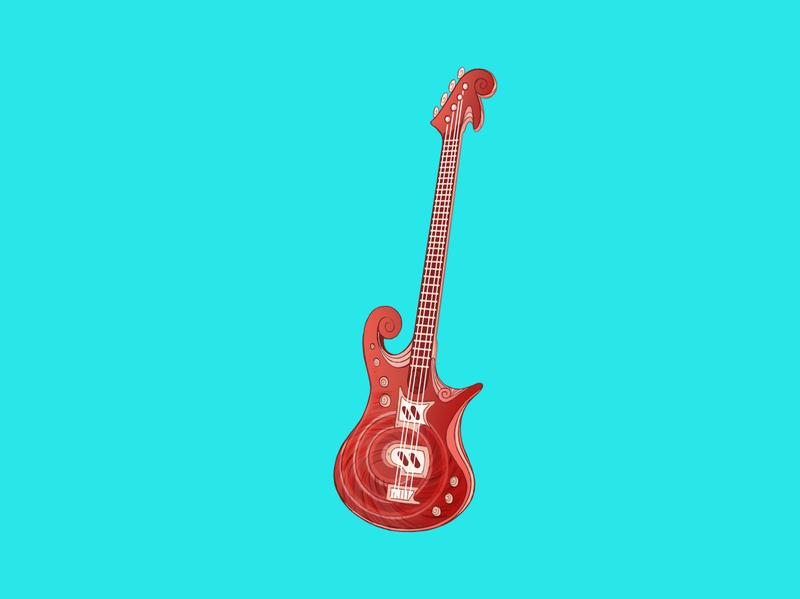 Shell Guitar? character design icon design prop game art animation cartoon music guitar artwork illustraion iconography icon