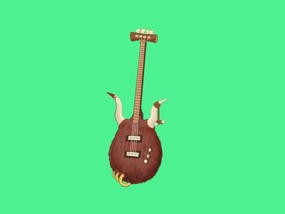 Caveman Guitar prehistoric caveman animal design colorful music prop design painting hand drawn artwork illustration guitar icon design icon