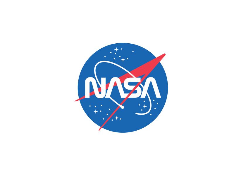 Combined NASA Logo mark meatball worm stars chevron insignia patch space nasa logo illustration icon logo design