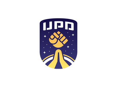 United Planetary Defense - Latest colorful cartoon punch fist logotype shield defense planetary united patch icon stars nasa space rocket fist insignia logo design